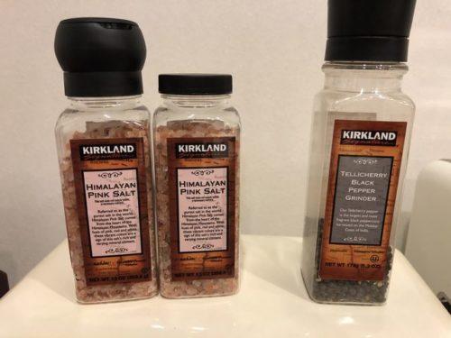 カークランドの塩と胡椒